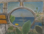Calabria. Pastel on canvas. 2006