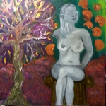 Venus and the Olive Tree. Acrylic on Canvas.2000.