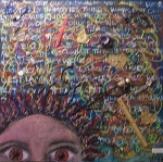 All in my head. Mixed Media on canvas. 2001