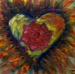 Heart on fire. Acrylic on canvas. 1999.