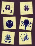 Post-It and Ink [Rorschach inkblots] for Art Bacchalaureate Thesis (2002)