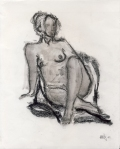 Nude. Charcoal on paper. San Diego 2008