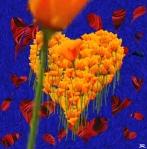 'Hallmark Card'. Digital painting done with 'Painter' software. 2001