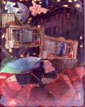 The Last Goodbye. 2005. Collage on cardboard.
