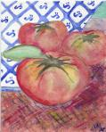 Pomodori. Watercolor on paper. 2004