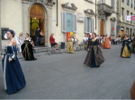 Celebration of the pride of Tuscan towns, Prato. Photograph. 2006