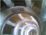 Bramante Staircase, Vatican Museums, Rome. Photograph. 2007