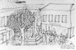 Aix-en-Provence. Ink on paper. 2006
