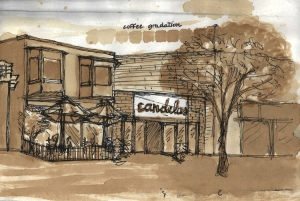 Candelas Restaurant- Rendering done using Espresso