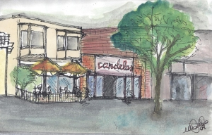Candelas Restaurant- Watercolor