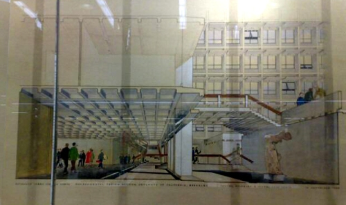 Rendering of the Interior of Wurster Hall. From CED Library, Berkeley. OCt. 2009