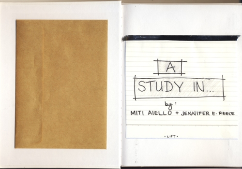 """The beginning of """"A Study In..' Project Designed by Jennifer Reece"""