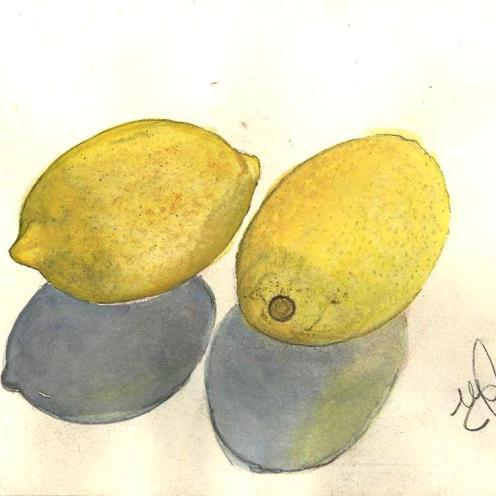 Watercolor and Graphite. November 12, 2009