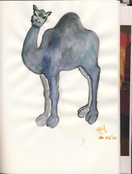 Watercolor on paper. June 3, 2010