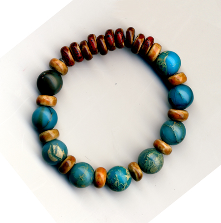 Earth and Water. Beads and yarn. June 24, 2011