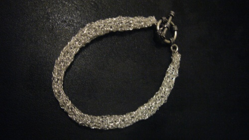 Wire Crochet tubular bracelet. This can be made in pure silver wire. November 20, 2011.