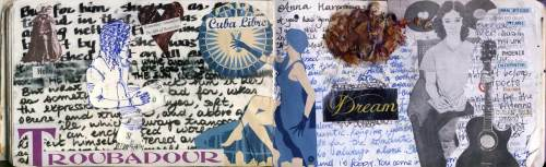 Found material and quotes from Tolstoi's Anna Karenina. Collage. San Diego. December 2013.
