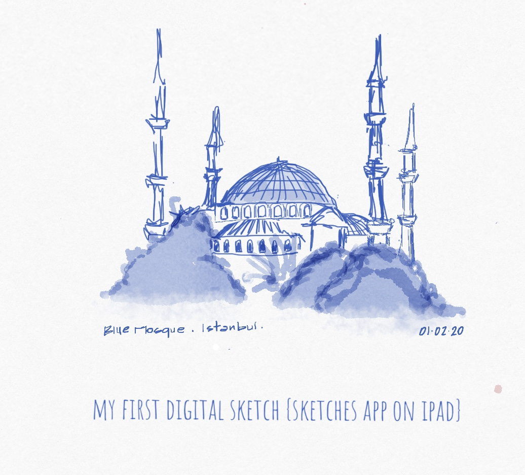 Dispatches from Istanbul {First Architectural Sketches on my Ipad!}
