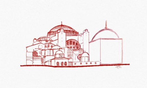 Hagia_Sophia_Sketch_Ipad